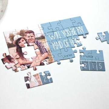Puzzle photo pour témoins de mariage