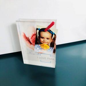 fête des pères-bricolage-photo-photo sur verre-verre acrylique-porte mémo-porte photo-pince à linge-papa-love-smartphoto