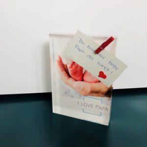 fête des pères-bricolage-photo-photo sur verre-verre acrylique-porte mémo-porte photo-pince à linge-papa-smartphoto