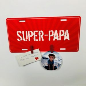 fête des pères-bricolage-porte mémo-porte photo-photo-plaque de porte-pince à linge-papa-smartphoto