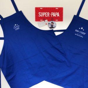 fête des pères-bricolage-tablier-tablier barbecue-tablier grillades-roi du barbecue-papa-smartphoto