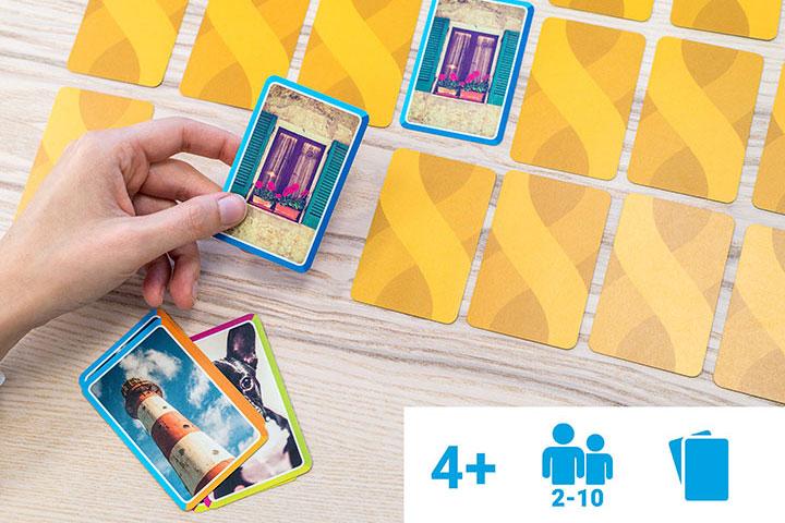 Jeu de cartes Mémo personnalisé avec photos