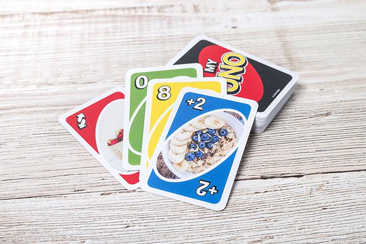 Jeu de cartes MyUNO personnalisé avec photos