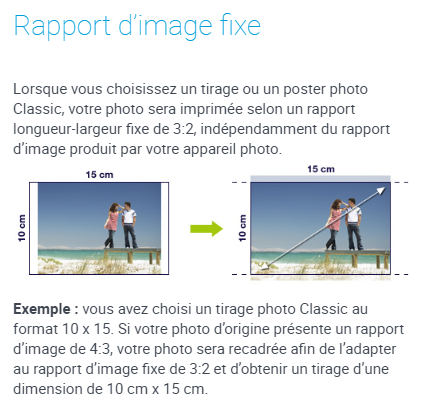Rapport d'image fixe