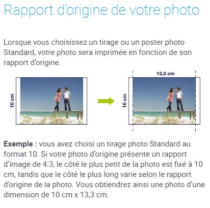 Rapport d'origine de votre photo
