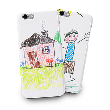 Coque pour smartphone personnalisée avec dessin d'enfant