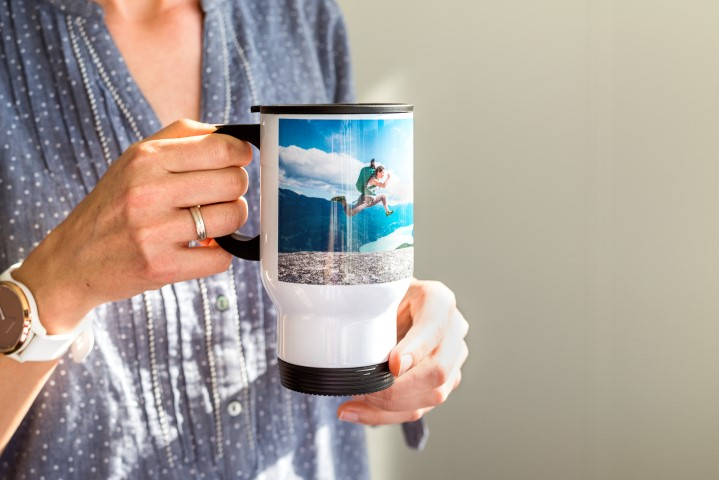 Mug de voyage isotherme avec photo
