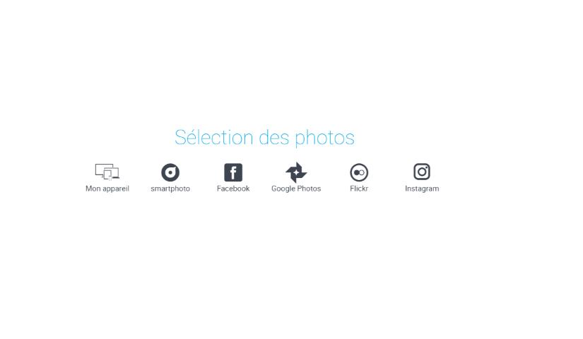 Sélection des photos depuis différentes sources