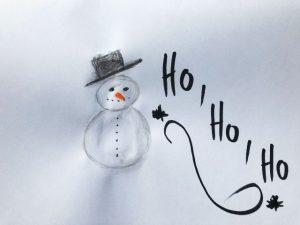Bonhomme de neige photographié