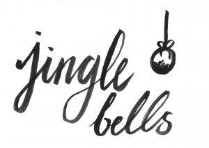 Hand lettering Jingle Bells