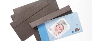 Enveloppe à rabat droit pour carte