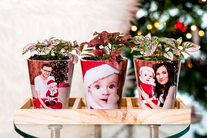 Pots de fleurs avec photos personnalisées