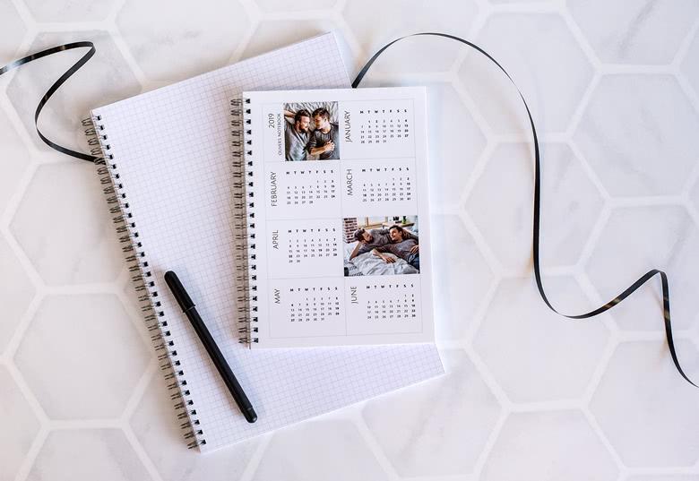 Cahier-calendrier personnalisable avec des photos