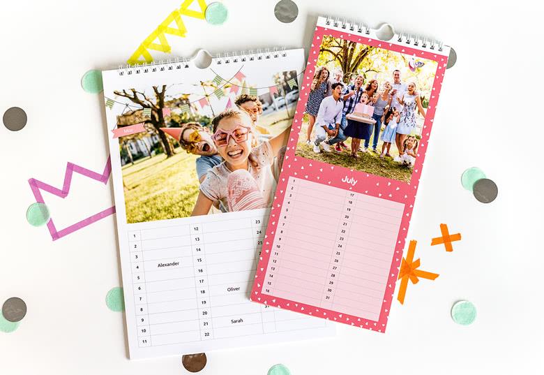 Calendrier anniversaire personnalisable avec photos