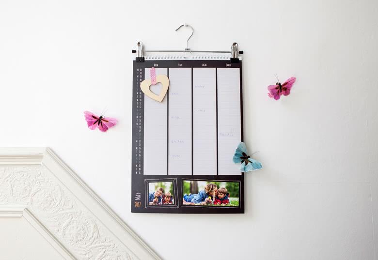 Calendrier familial personnalisable avec photos