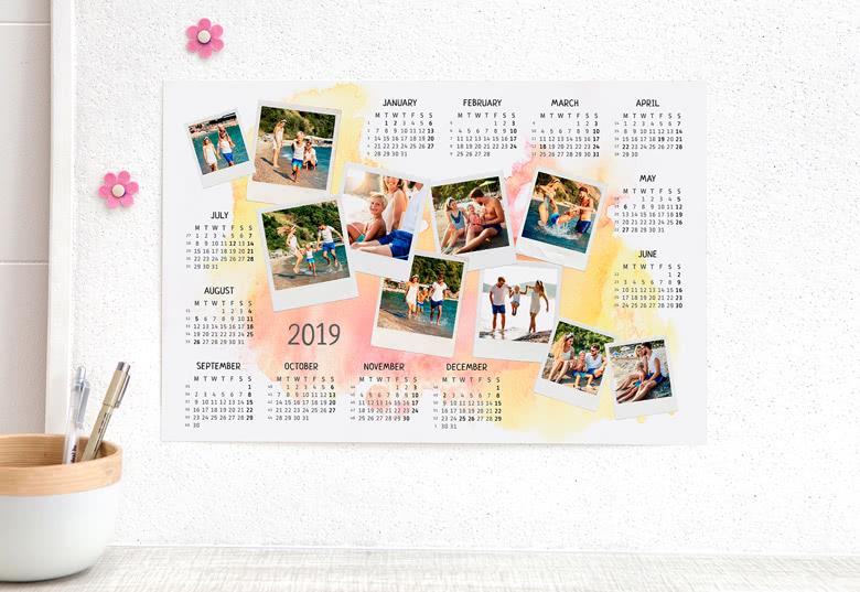 Planning annuel personnalisable avec des photos