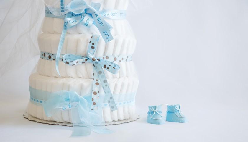 Gâteau de couches pour baby shower