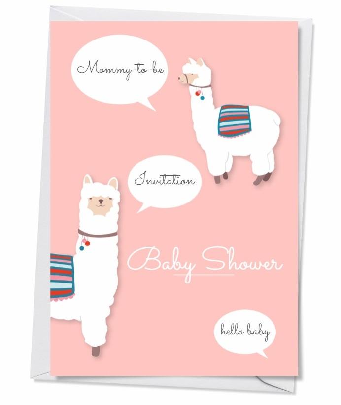 Carte d'invitation fête prénatale