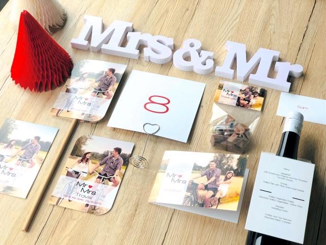 Cartes et décoration de mariage Mr & Mrs