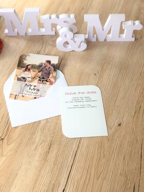 Save the date personnalisé avec photo Mr & Mrs
