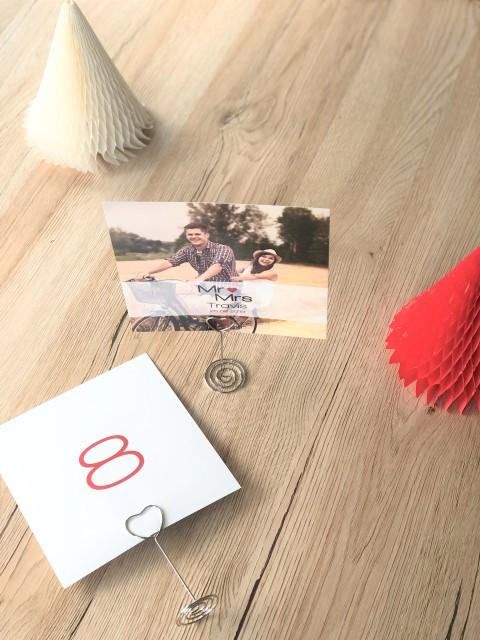 Numéro de table avec photo sur porte-photo
