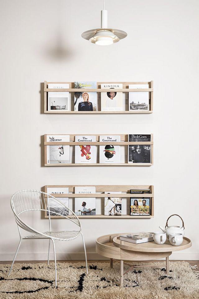 DIY wanddecoratie - tijdschriftenrek