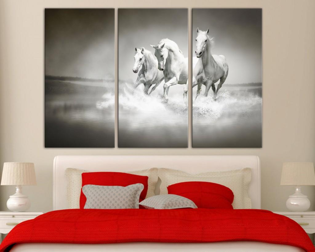 canvas meerluik stijlvol zwart-wit