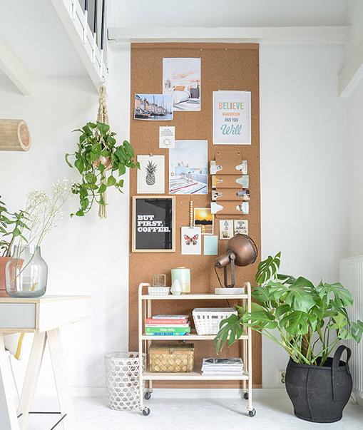 DIY wanddecoratie - creatief met kurk