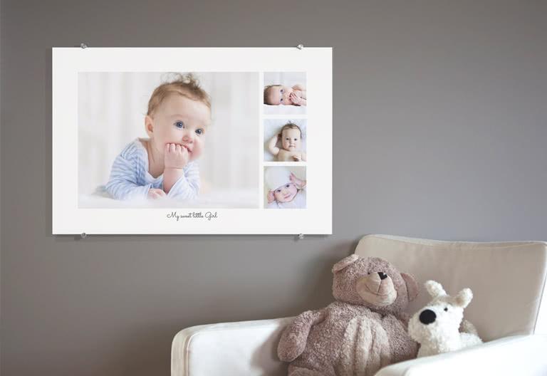 Een fotocollage van je baby