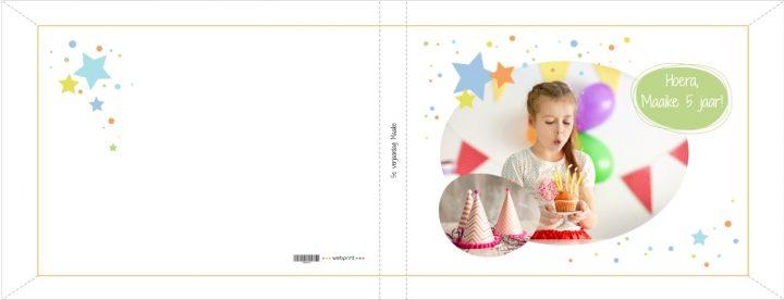 Fotoboek kaft verjaardag