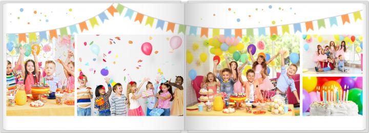Fotoboek verjaardag design