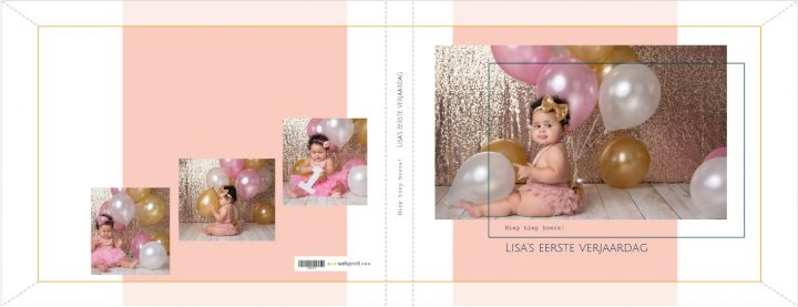 Fotoboek kaft verjaardag roze