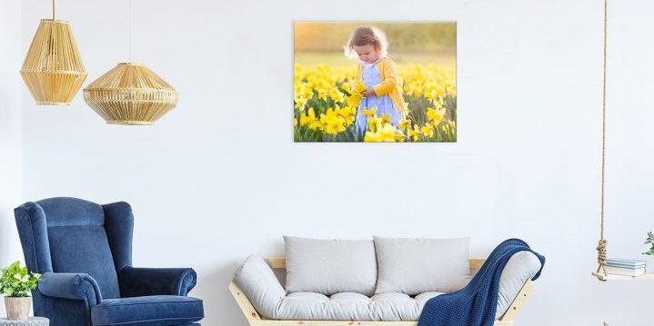 Canvas in de woonkamer