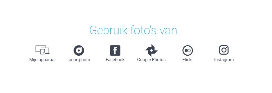upload mogelijkheden smartphoto