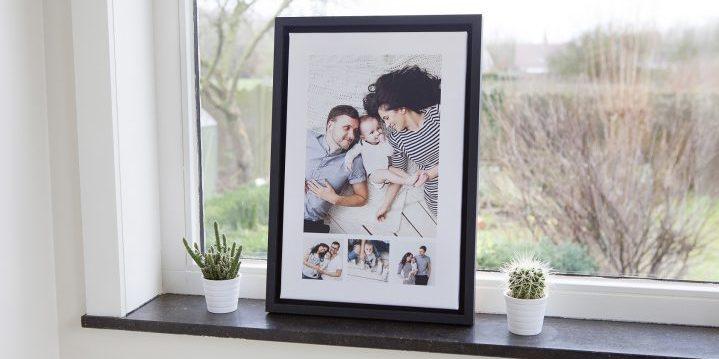 familiefoto op wanddecoratie