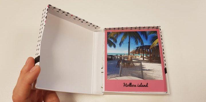 foto-ideeën, fotos in een doosje