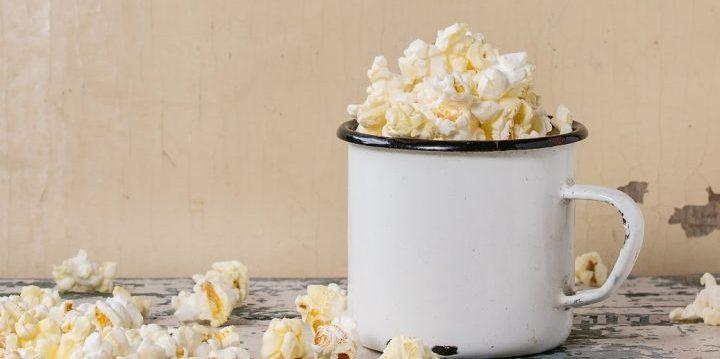 mok met eigen foto popcorn