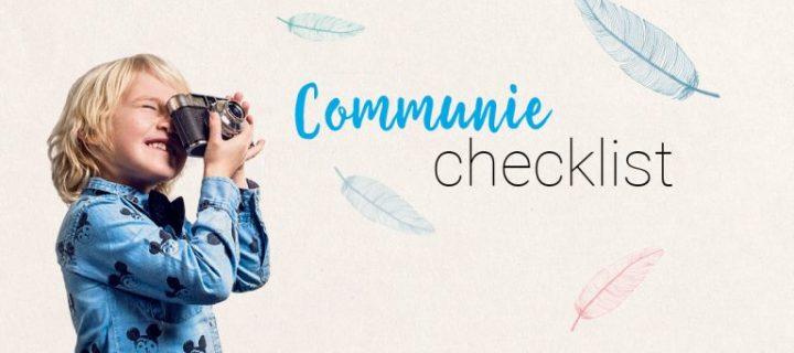 De ultieme Checklist voor je Communiefeest vind je hier!