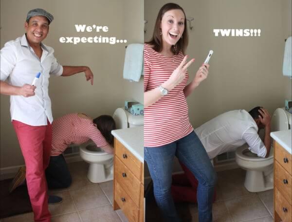 Zwangerschapsaankondigingen Tweeling_Grappige Toets