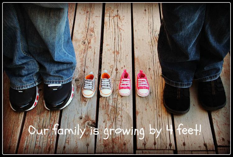 Zwangerschapsaankondigingen Tweeling_Vier Voetjes