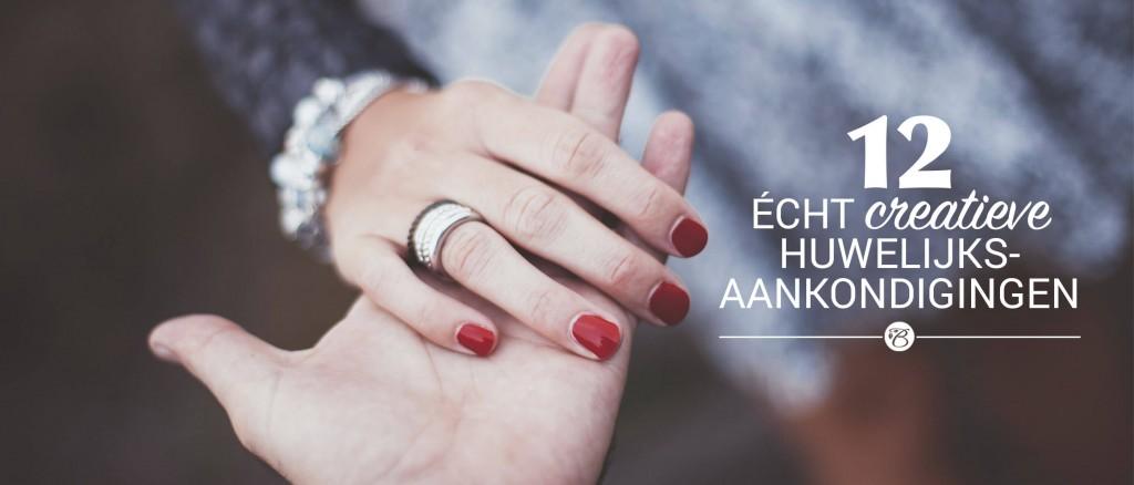 12 écht creatieve huwelijksaankondigingen - Blog