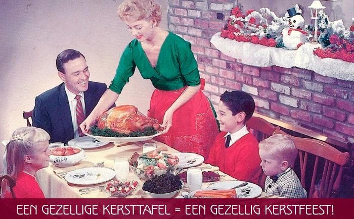 gezellige kersttafel