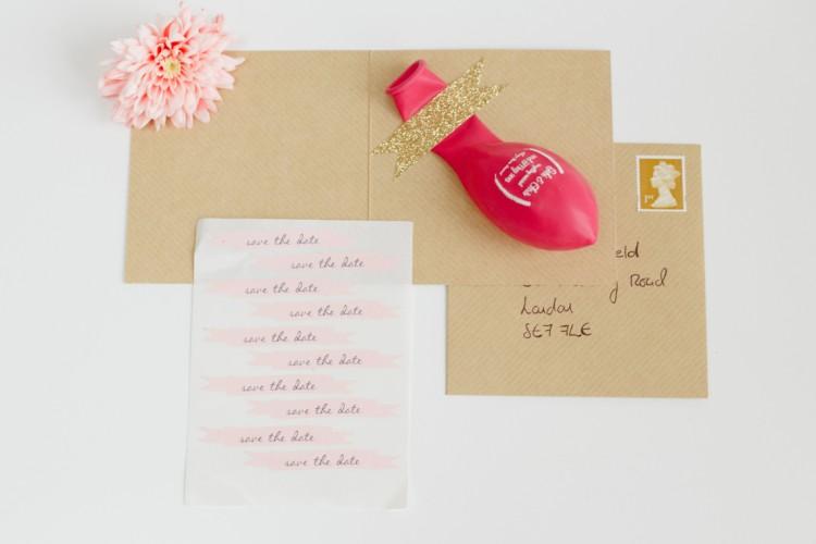 trouwuitnodigingen - ballon