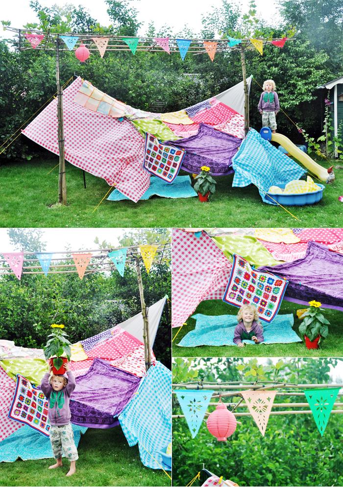 zomeractiviteiten voor kinderen kamp bouwen