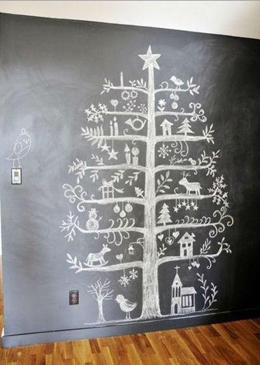 Kerstboom in krijt zelf maken