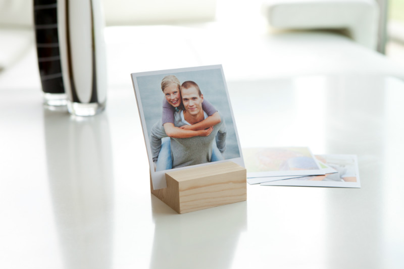design fotohouder met retro fotoprints