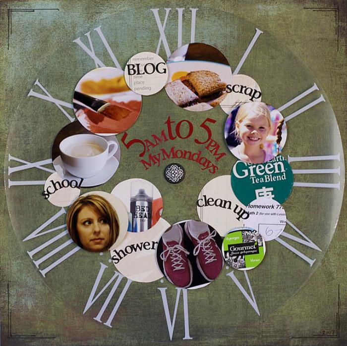 scrapbook-maken-klok
