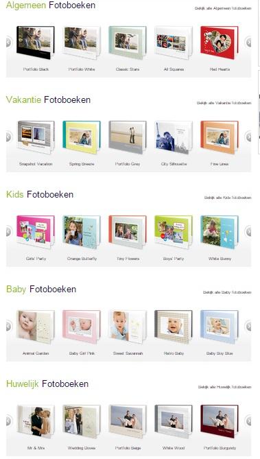 Kies een design voor fotoboek