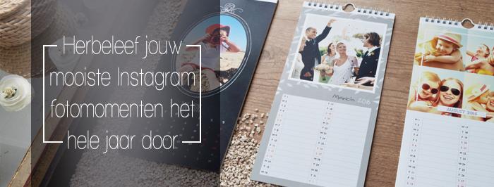 Retro agenda met instagram foto's