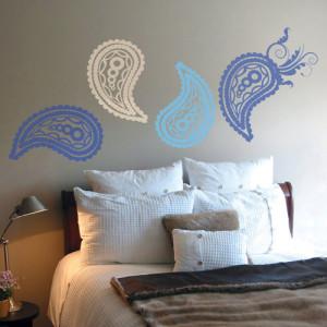 paisley muurdecoratie